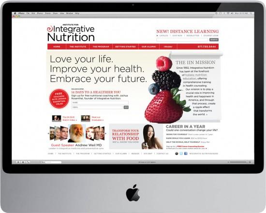 CarlaRozman_institute for Integrative Nutrition website design