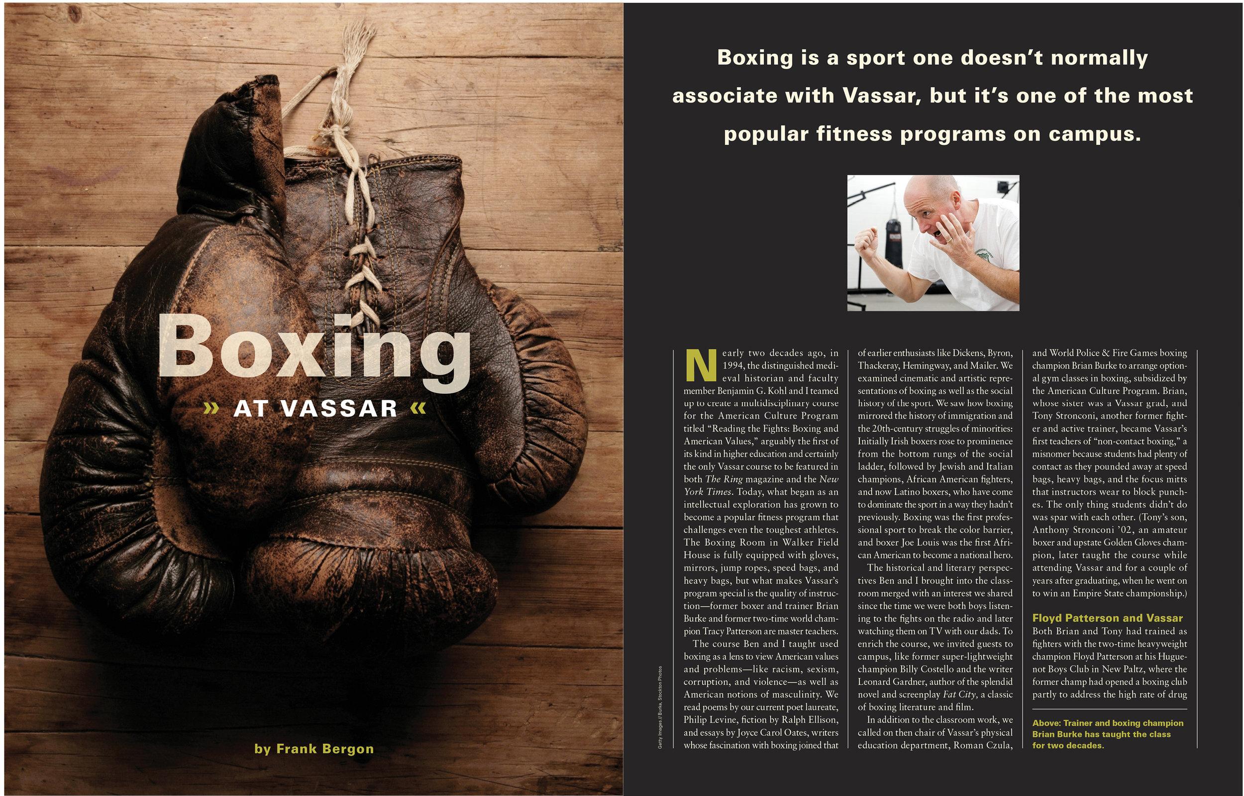 boxing at vassar magazine design alumni carla rozman