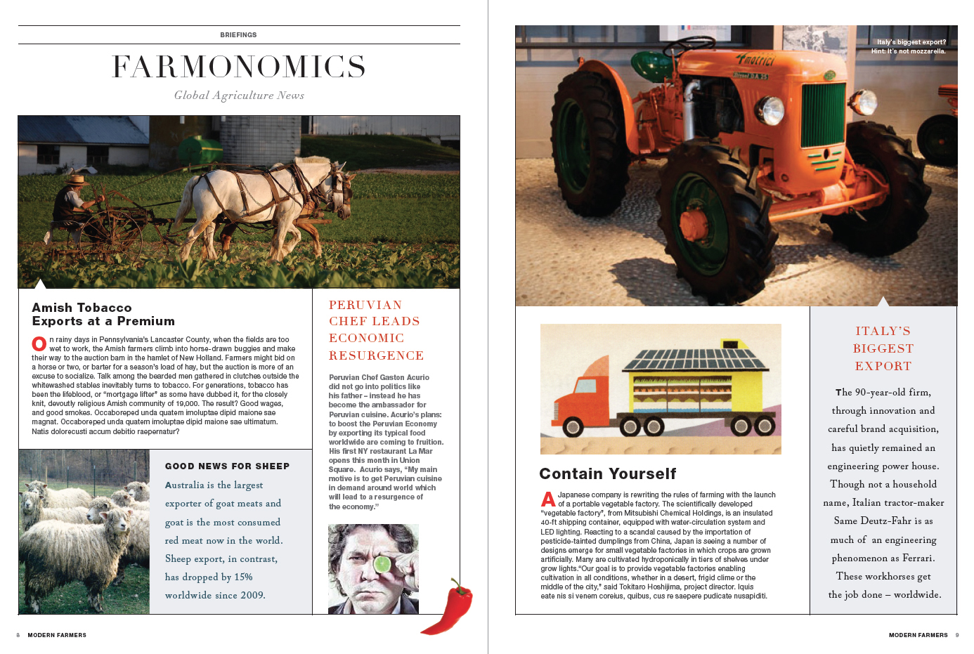 Modern Farmer Prototype Magazine Design  Farmonomics 2