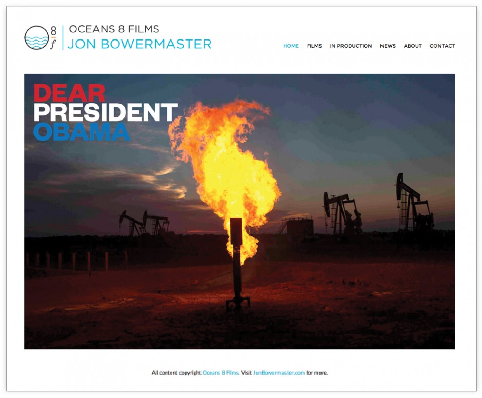 oceans 8 films website jon bowermaster design environmental films