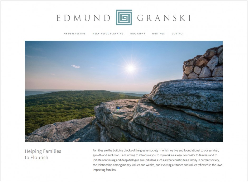 Edmund Granski Logo Design laywer attorney at law carla rozman website design