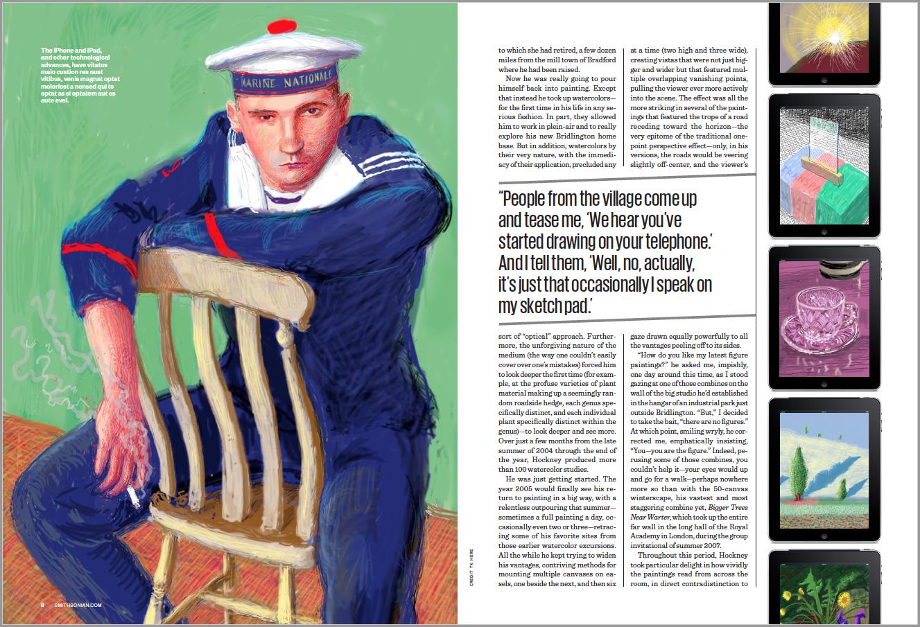 David Hockney Feature Spread Smithsonian magazine
