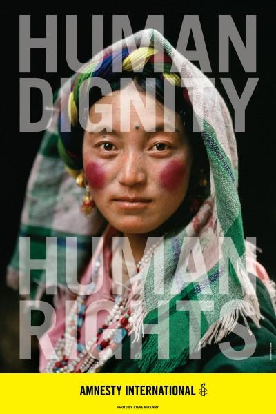 Carla Rozman Amnesty International Steve McCurry Poster