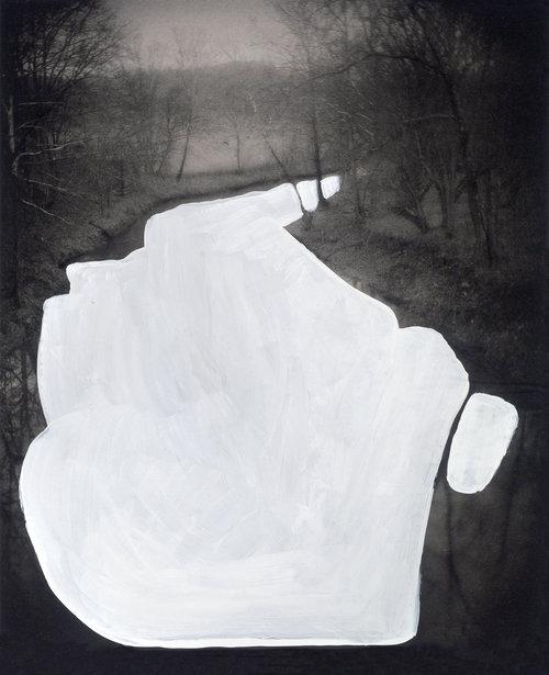 White Water,  latex on magazine