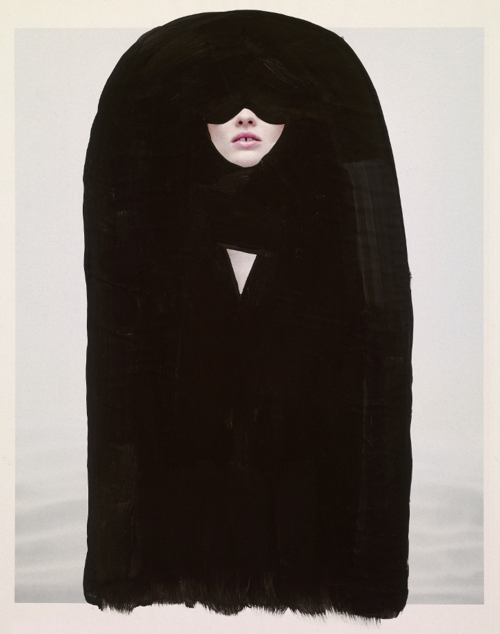 Burqa,  acrylic on magazine | SOLD
