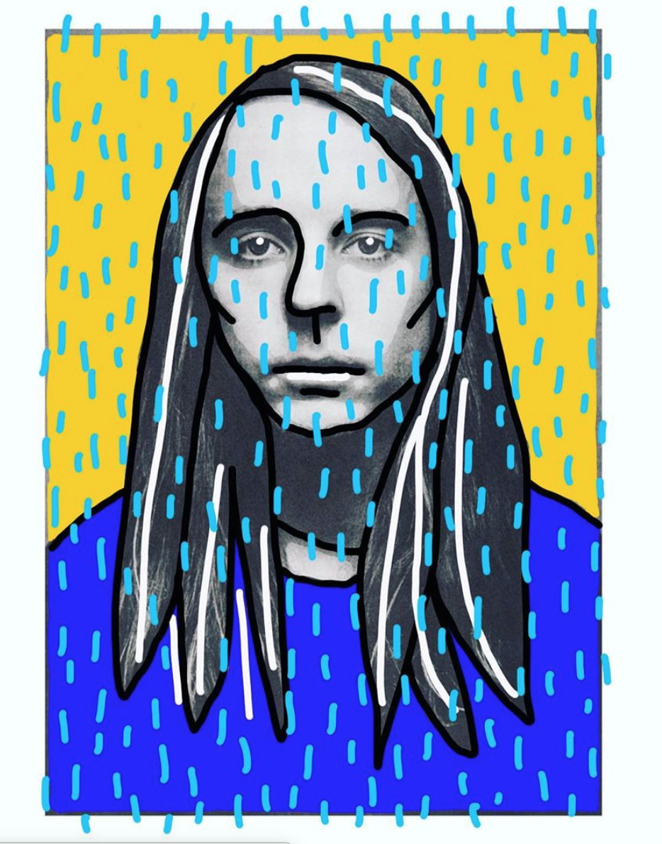 Music Pop Culture Colossal Illustration Painting Editorial Magazine Design Carla Rozman @carlasimone Rain Folk Guitar Andy Shauf Canadian Album Cover.png
