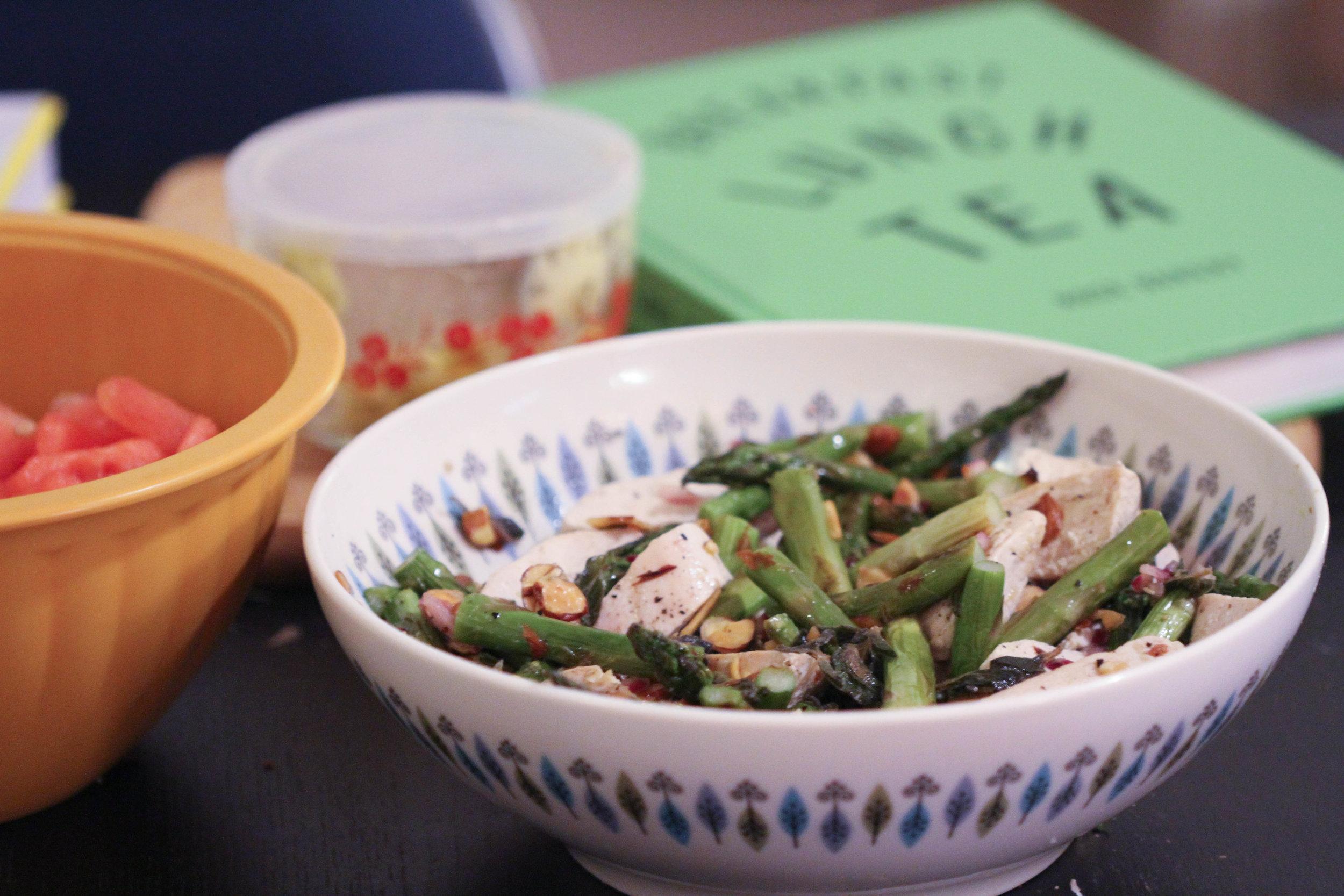 chicken & asparagus salad