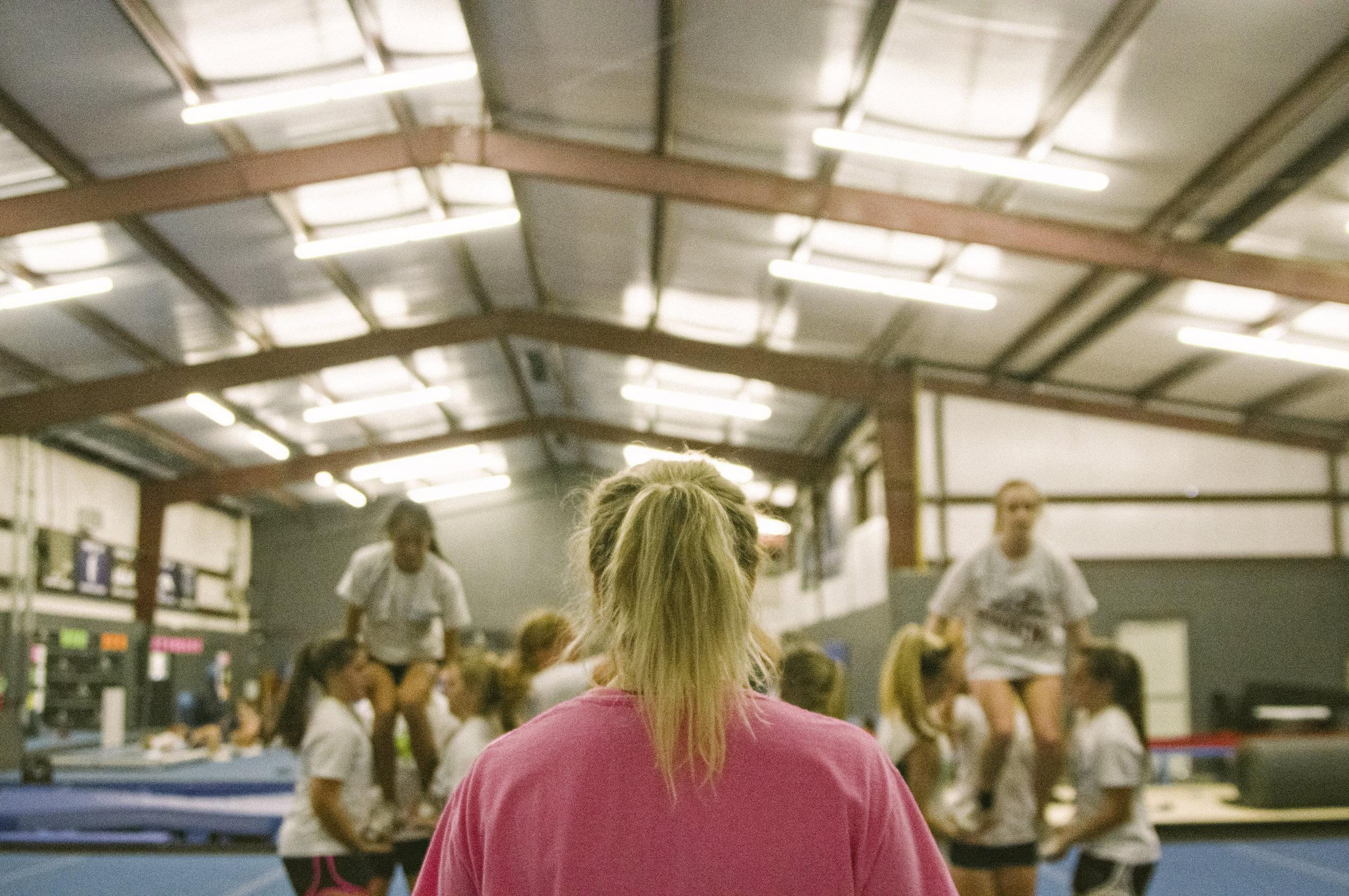 River Oaks Cheer Practice