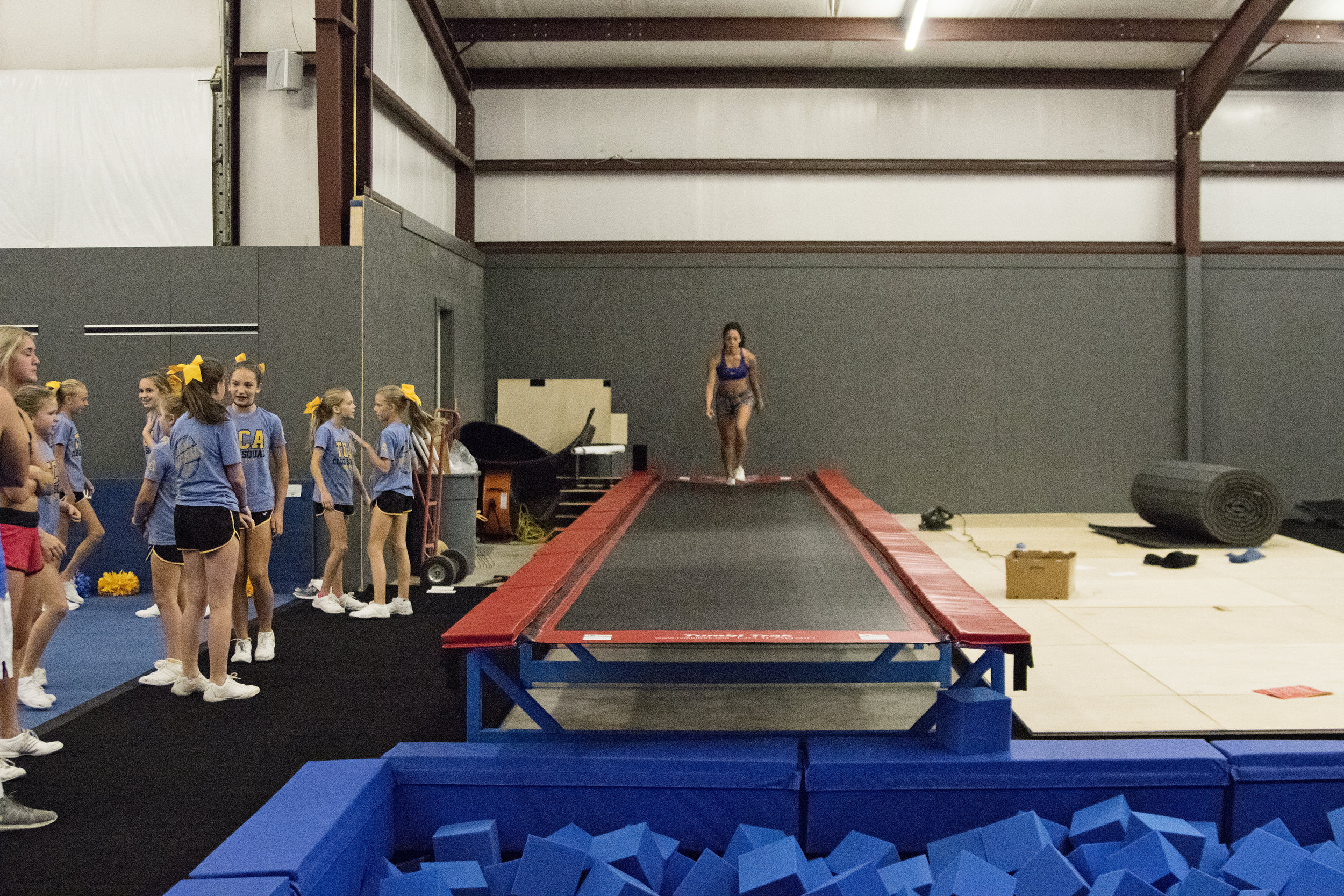 Only Cheer Gym Foam Pit in North Louisiana