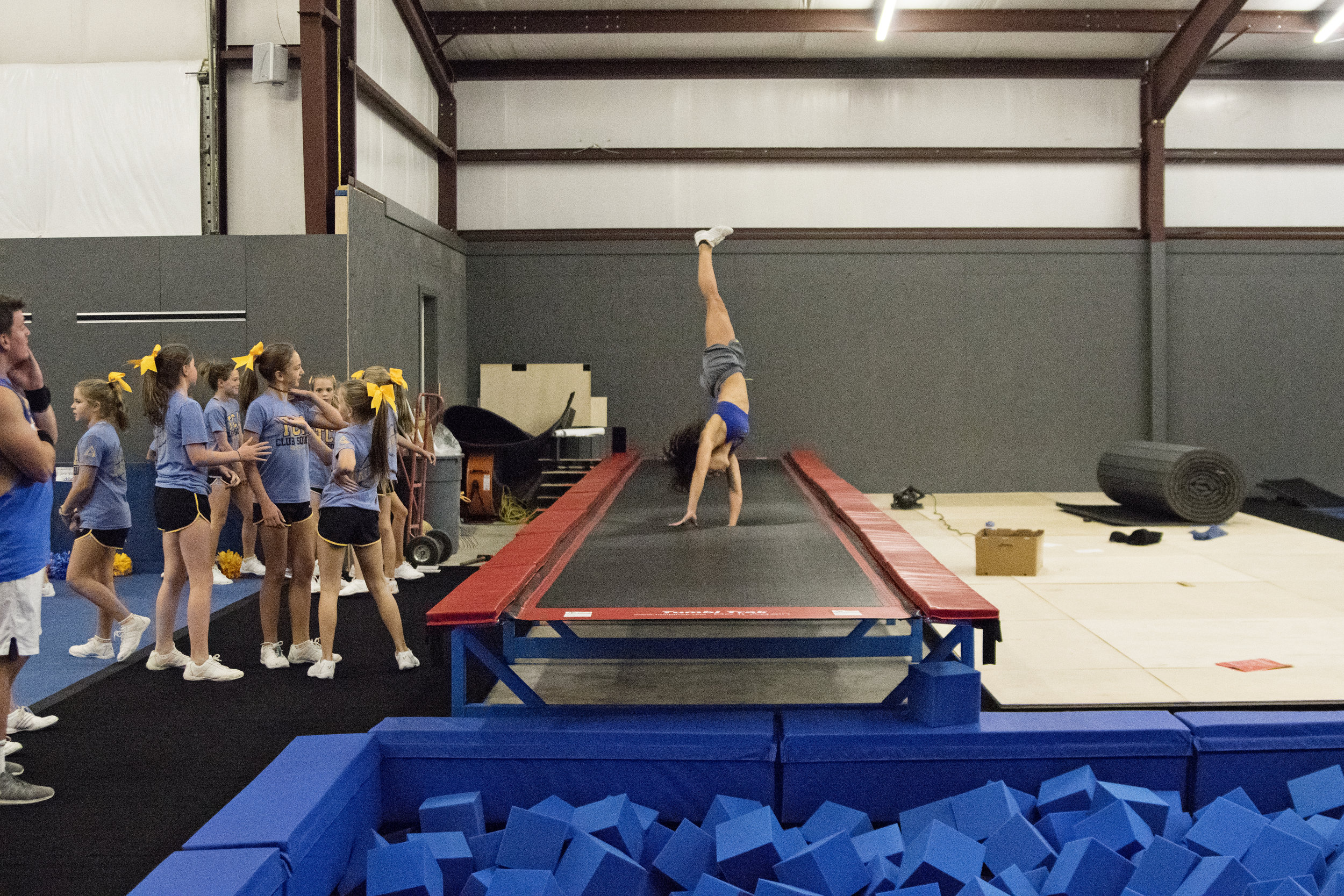 Only Cheer Gym with a Foam Pit in North Louisiana