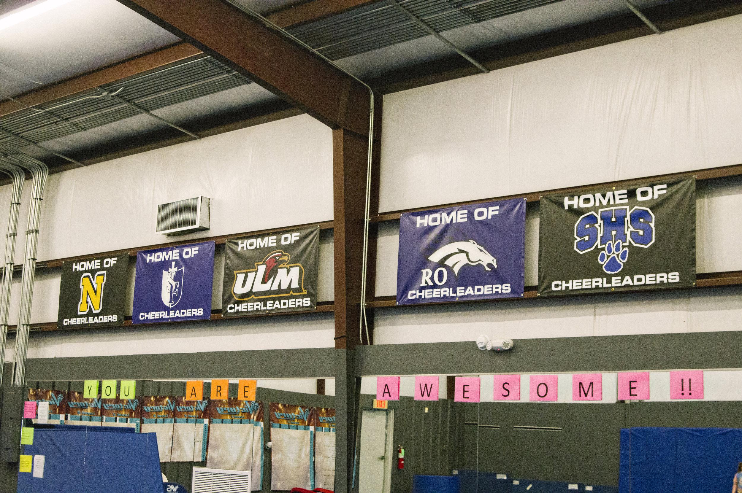 Trinity Cheer Banners