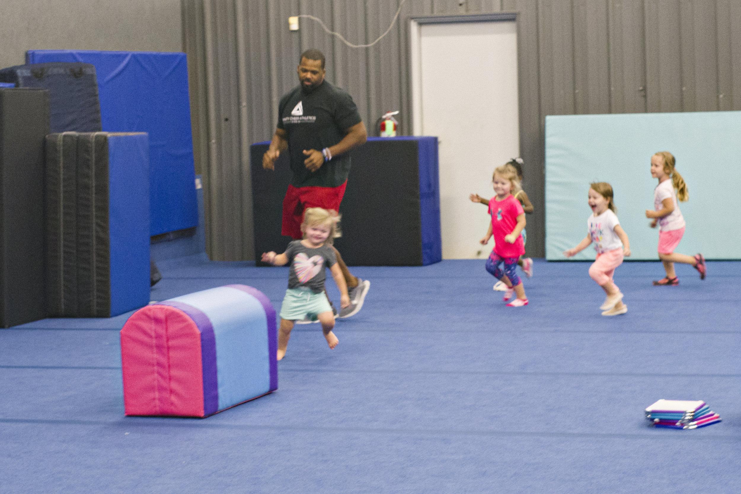 Toddler Girls Running