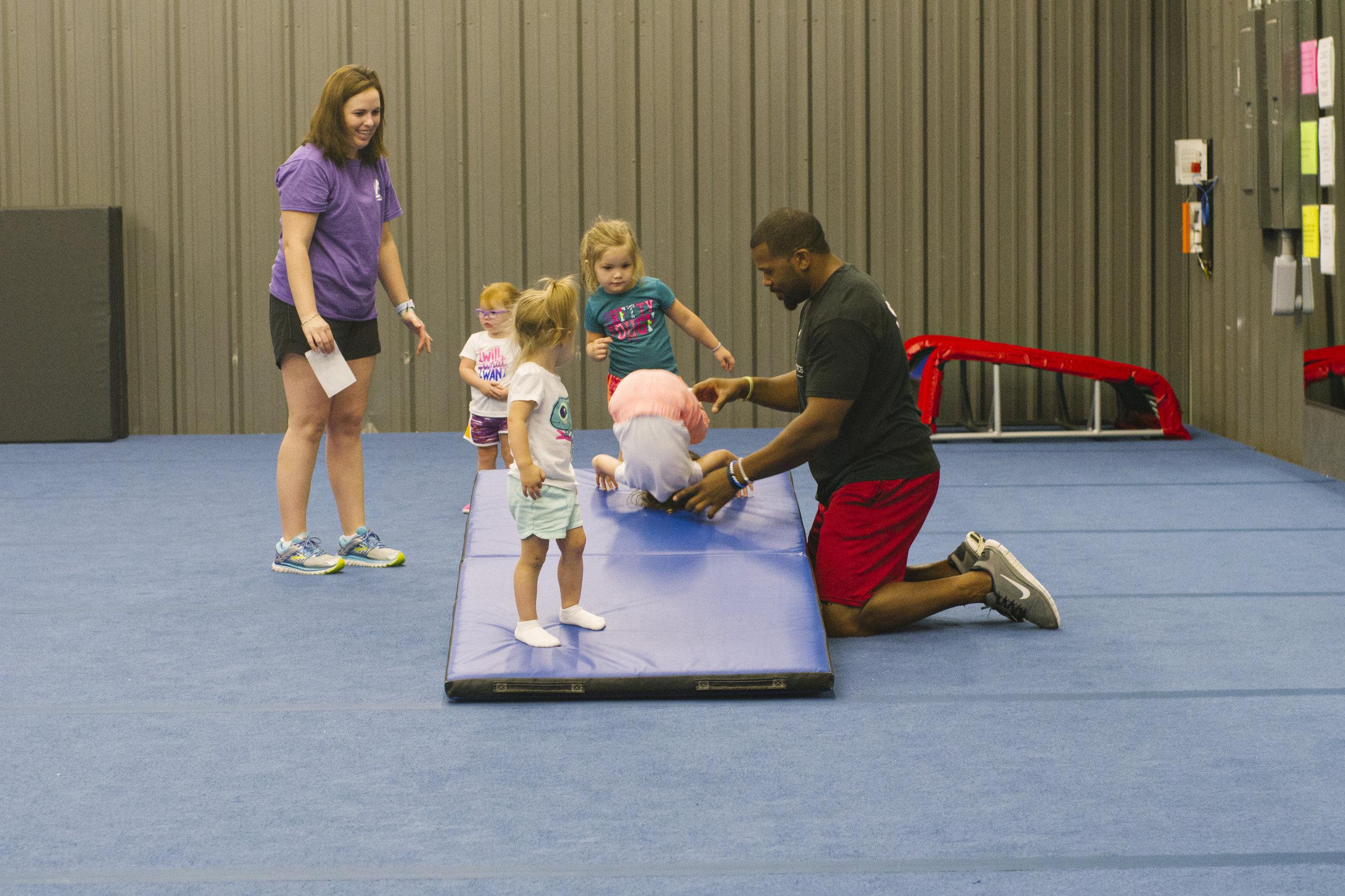 Toddler Tumbling Class Drills