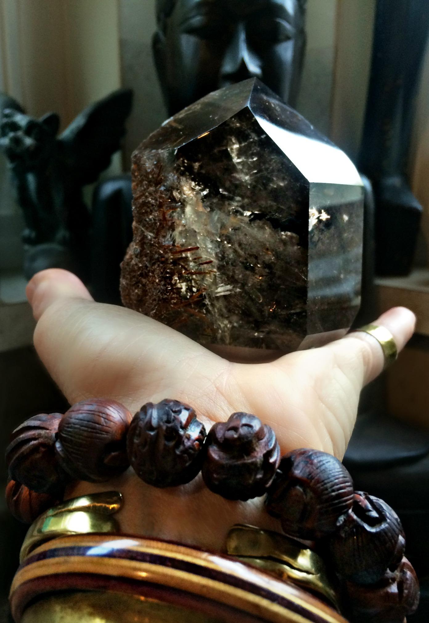 Epidot and smoky quartz pm.jpg