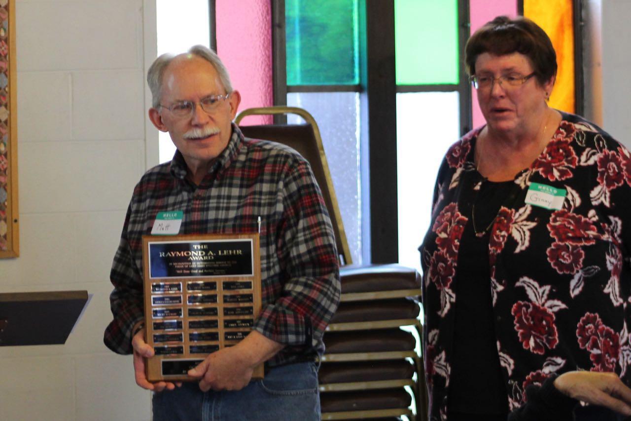 Ginny and Matt McColm recieve Lehr Award.jpg