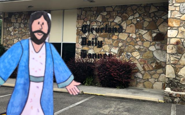 Flat James visits the Cleveland Daily Banner in Cleveland, TN
