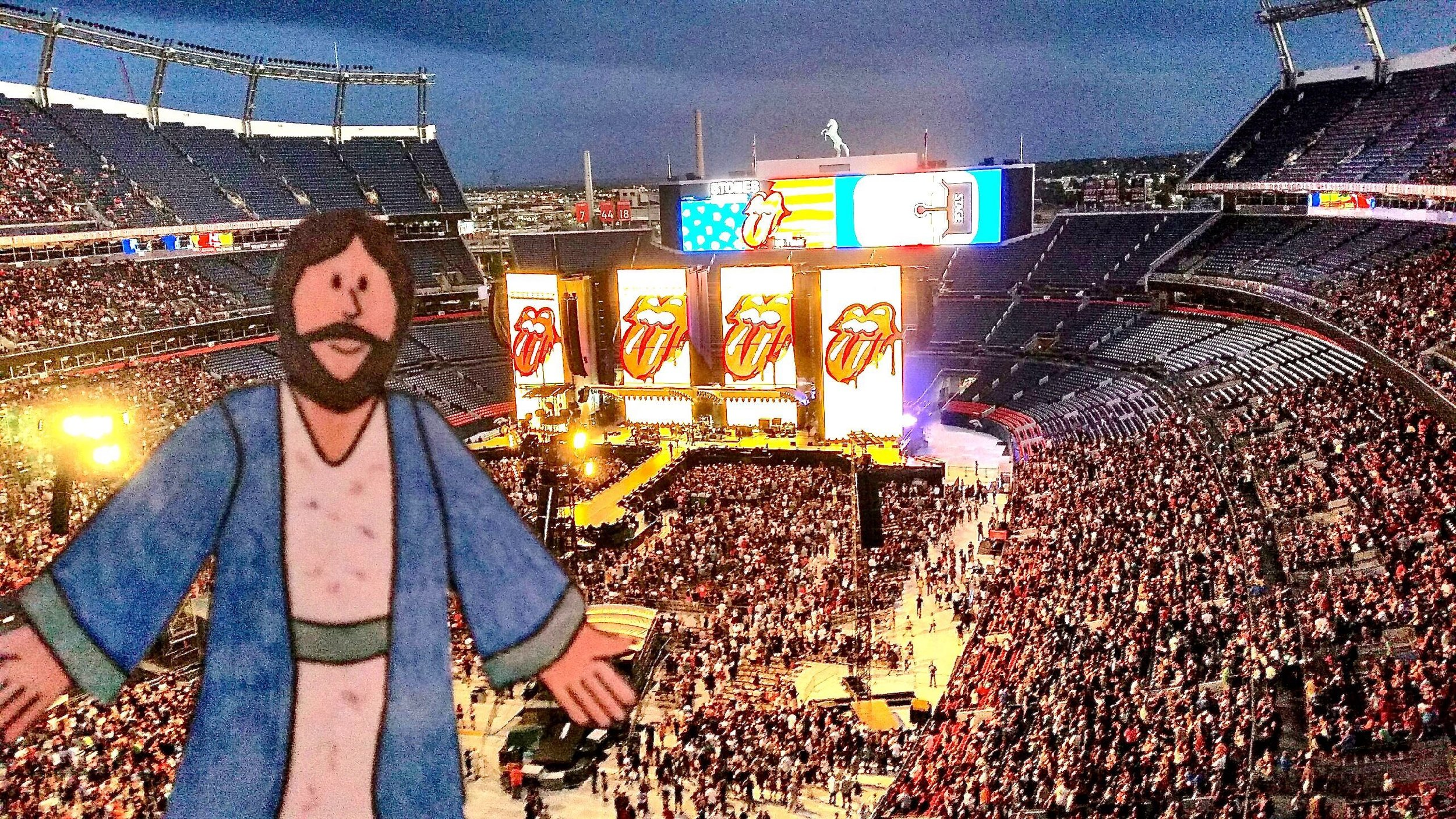 Flat James at the Rolling Stones concert