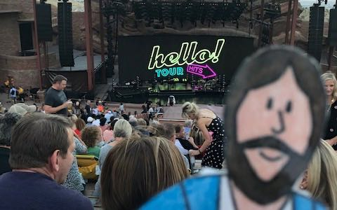 Attending the Lionel Richie concert at Red Rocks