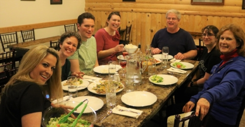 Happy participants in one of the first sessions of Cookin' with Kibby.