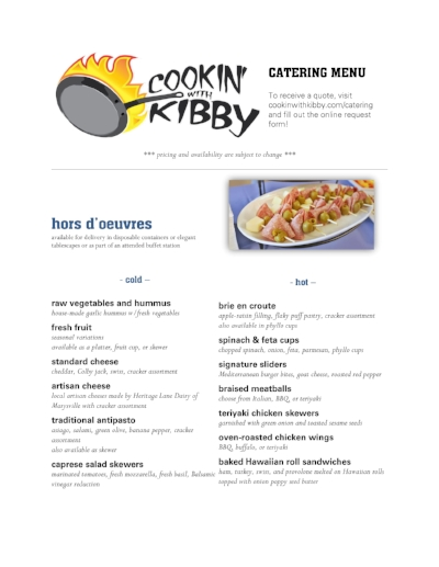 Click here to view the catering menu!