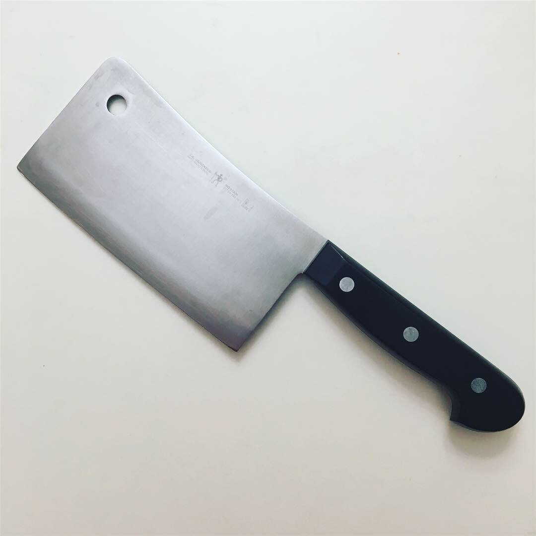 the cleaver - it looks intimidating, and I like it that way