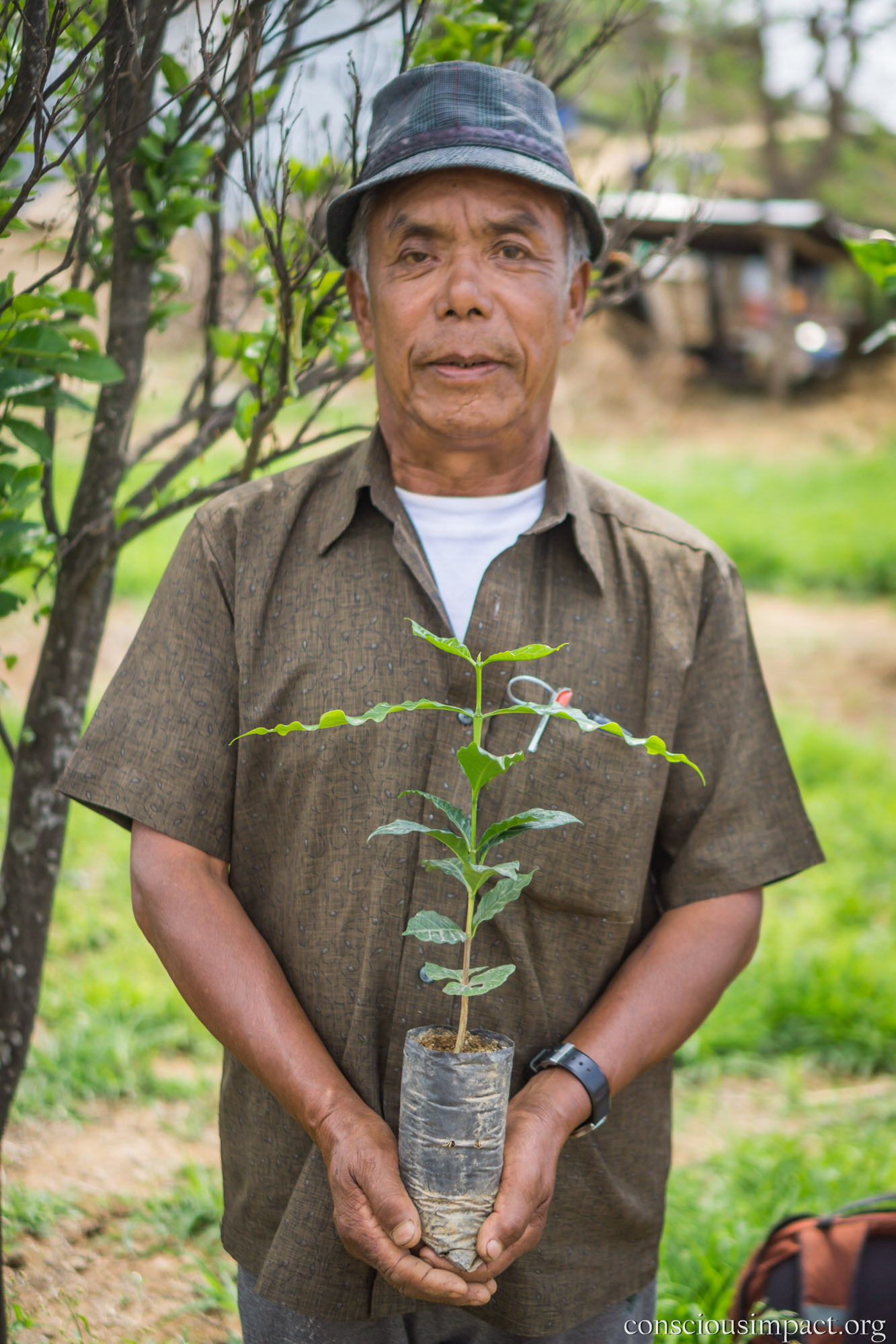 """I'm excited to plant coffee because it provides a long lasting income generating source."" -Amar Bdr. Ranamagar"