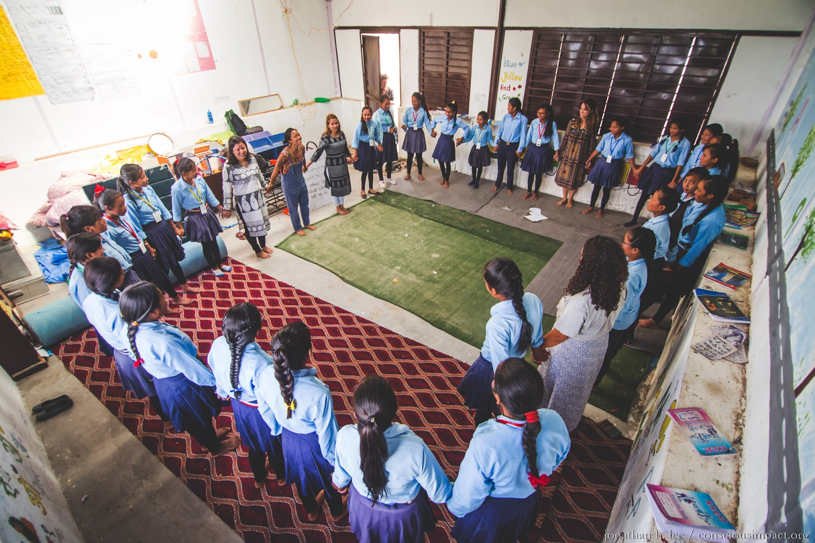 Girls Empowerment class in Nawlpur, Nepal. Photo by Jonathan H. Lee