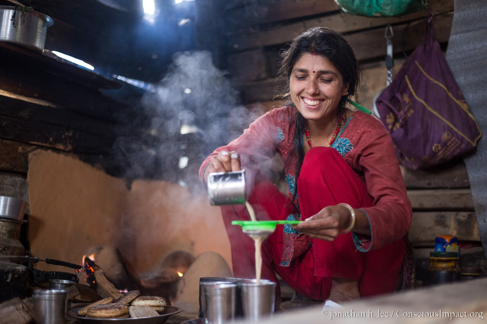 Milk tea is a morning staple of Nepali homes. Share this and much more with local community members in our new Homestay Program. Photo by Jonathan H. Lee