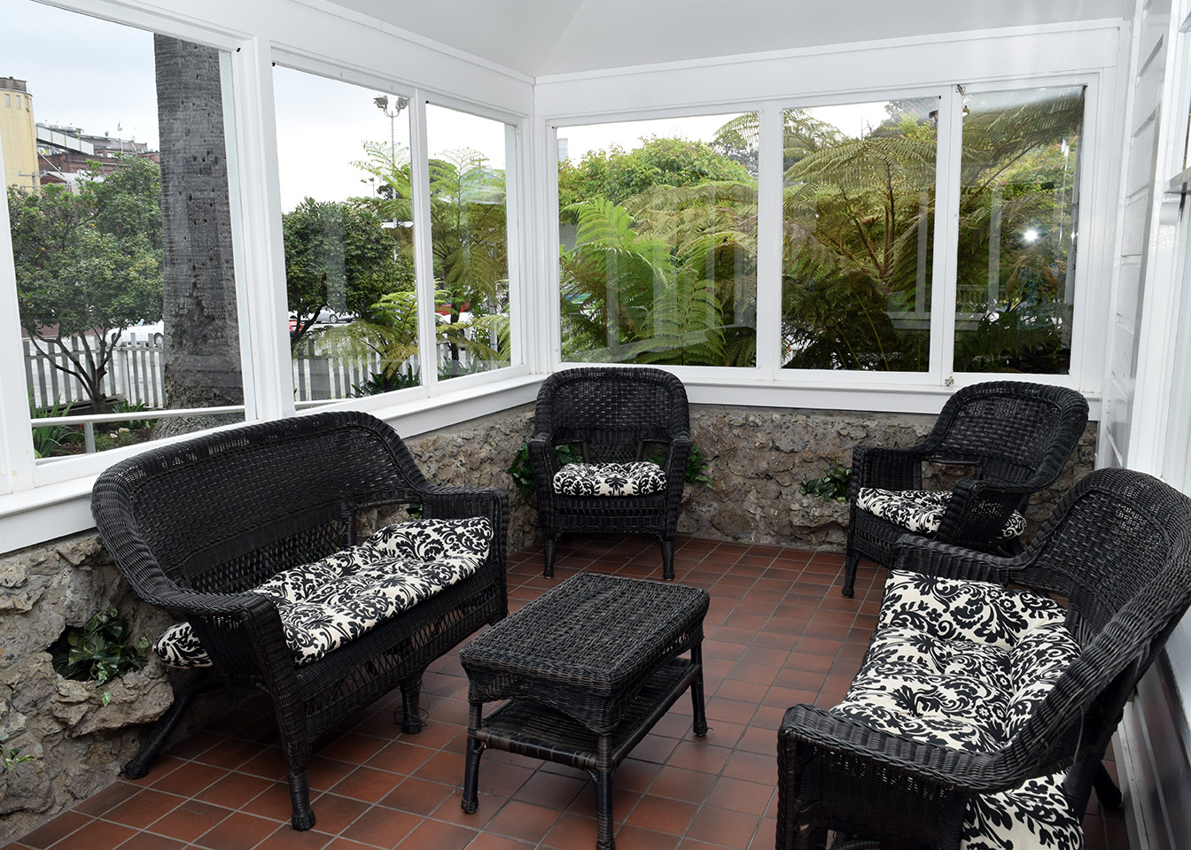 Interior: Porch veranda sitting area