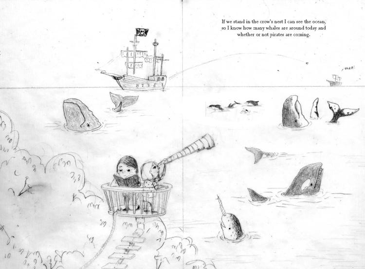 Secret Tree Fort sketch Brianne Farley