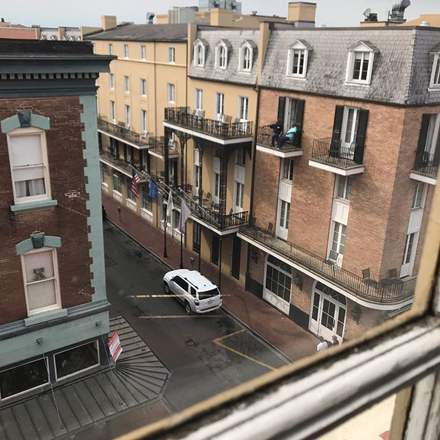 New Orleans current situation view over bourbon street. #societyneworleans is currently scheduled to proceed as planned based on the current forecast for Saturday. The safety of our supporters is of the utmost concern, and we are monitoring the situation as it develops.