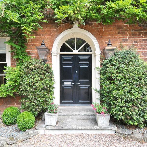 Black front door colours
