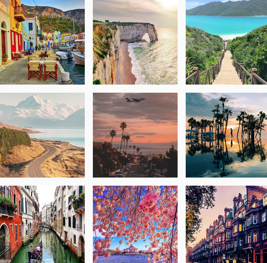 Inspirational Travel Instagram accounts