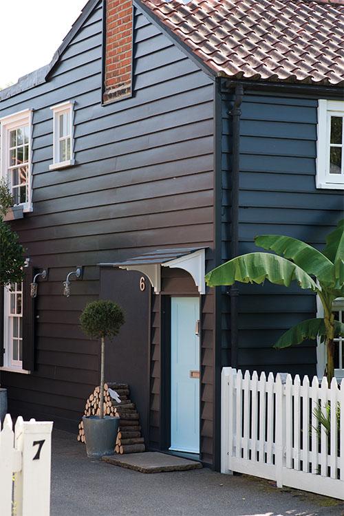 Blue front door colour