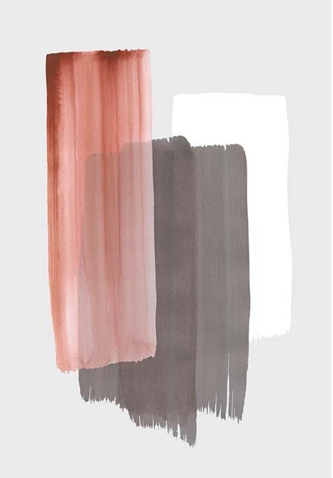 Affordable art prints to buy online - Colour Strokes NO3 Poster at online retailer Desenio