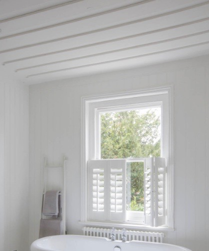 Luxafles blinds which look gorgeous in a say a bathroom.