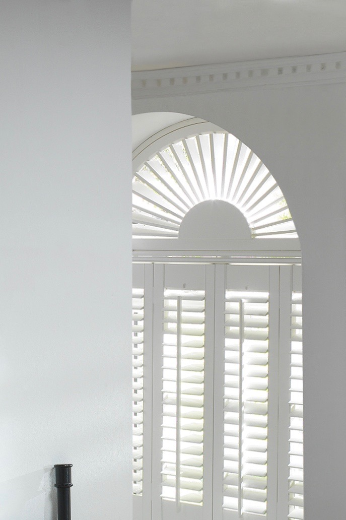 Arched shaped shutters from Luxaflex to suit any window shape or frame.