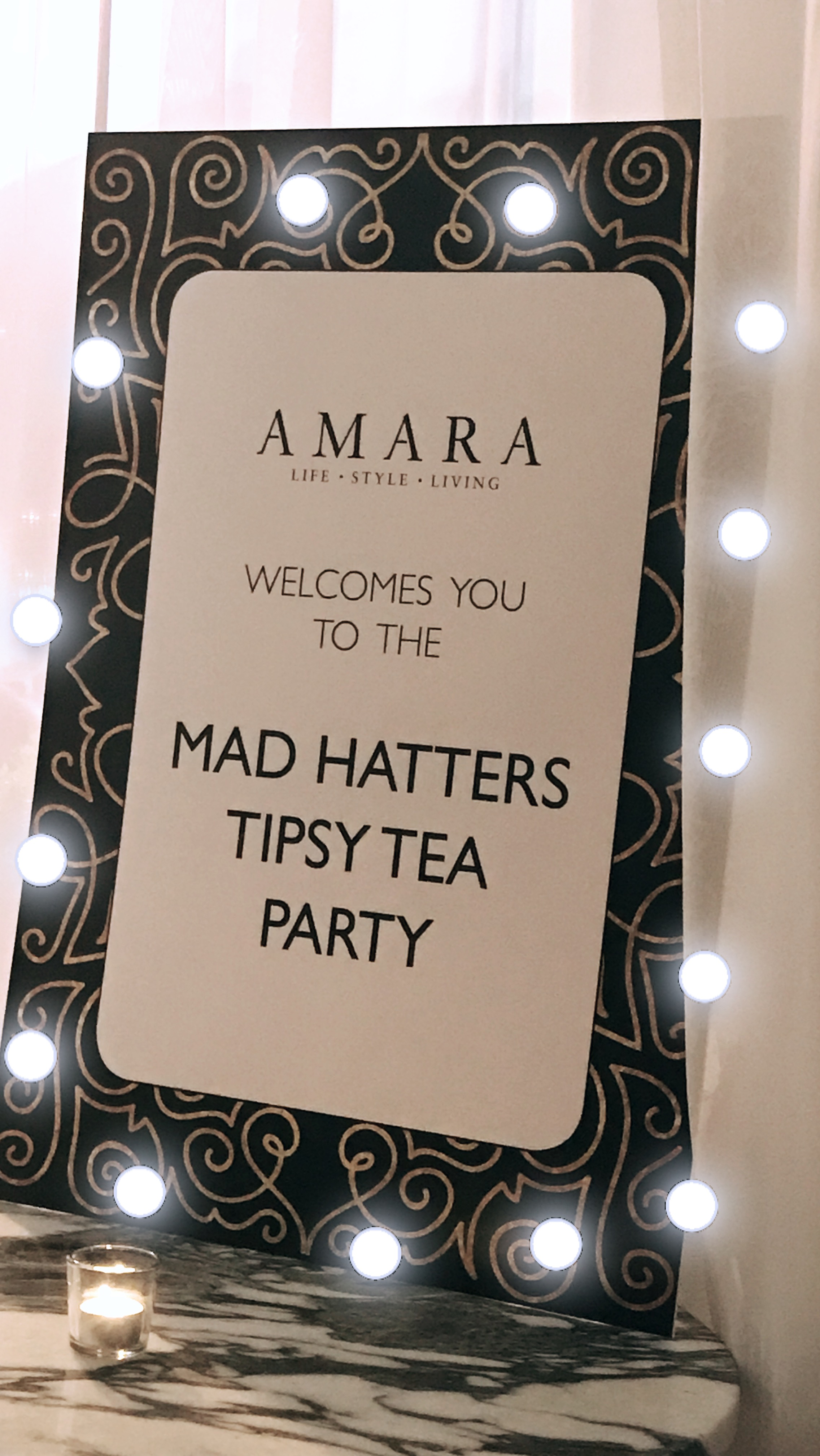 Amara tea party at The Sanderson Hotel In London