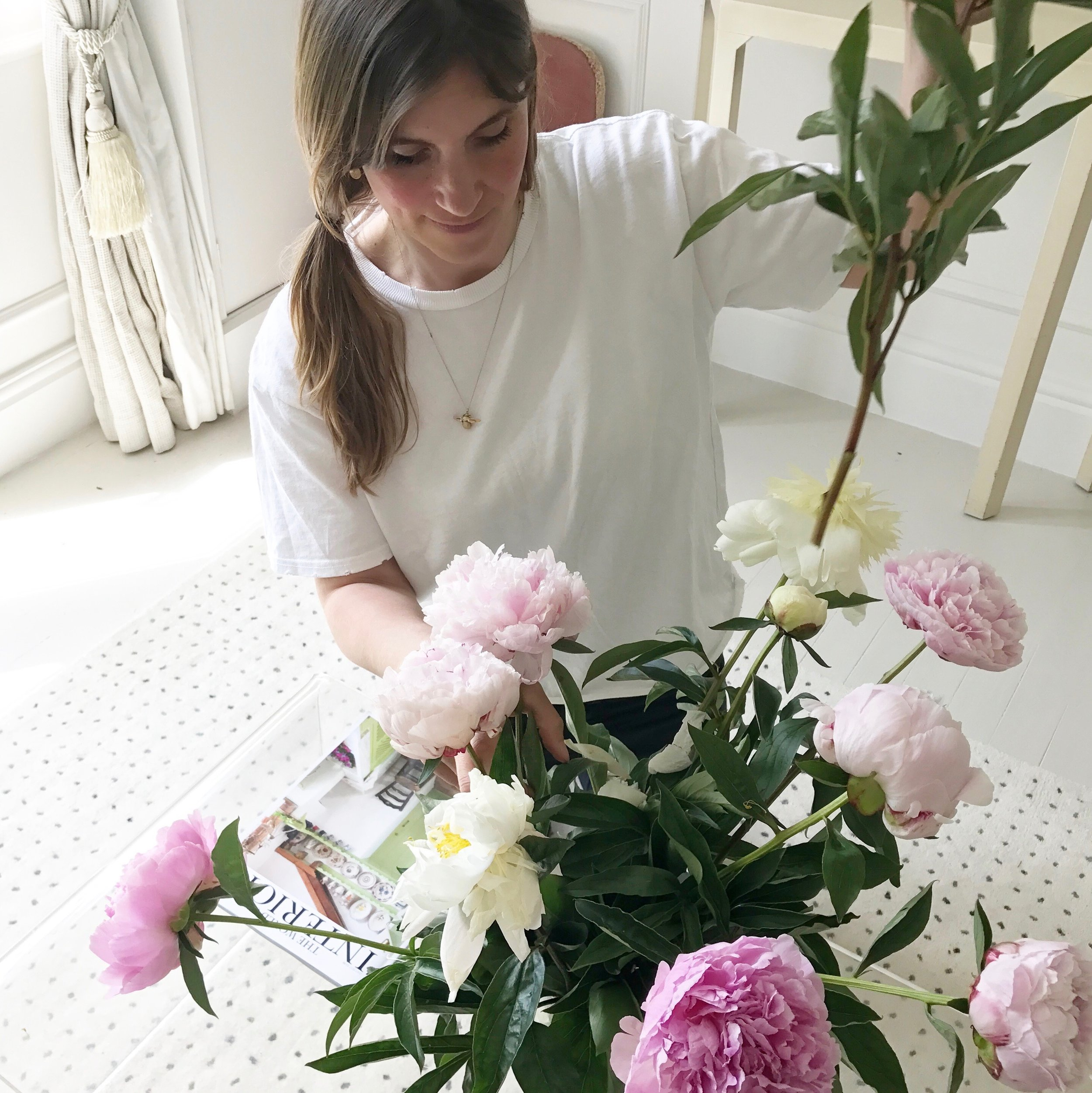Where do you buy flowers for your home? At home with Camilla Pearl Blog and Freddie's Flowers.