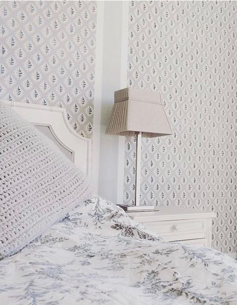 Camilla Pearl bedroom before adding in pops of colour.