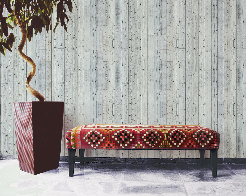 How to transform a room with textured wallpaper. Image via Textura.