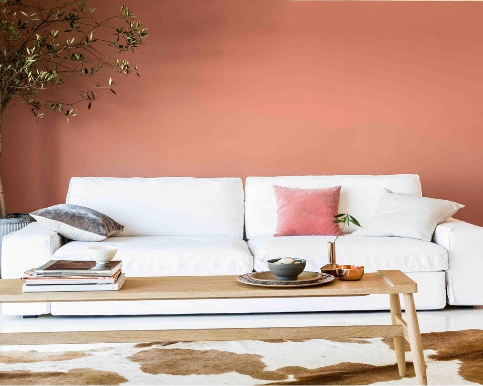 Using peach in interior design. Image by Dulux