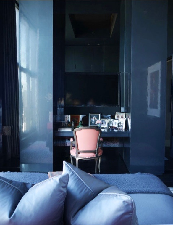 Interior Design using pink and blue, image via Interiors by Studio M