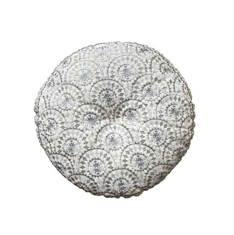 Sweetpea & Willow boho cushion for grey and taupe interiors
