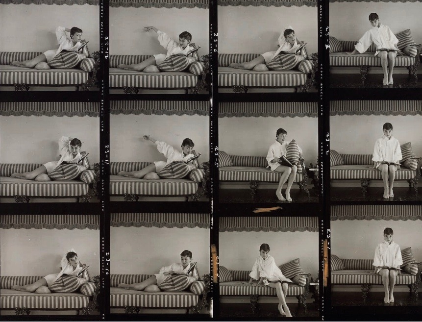 Audrey Hepburn auction of personal belongings at Christie's auction house September 2017 MARK SHAW (1922-1969) Audrey Hepburn for Life Magazine during filming of the 1954 Paramount production Sabrina, Los Angeles, 1953