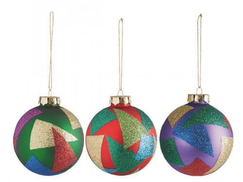 Habitat baubles multi coloured