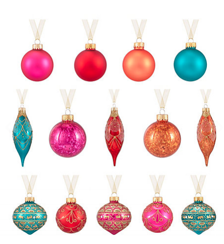 John Lewis multi-coloured bauble set