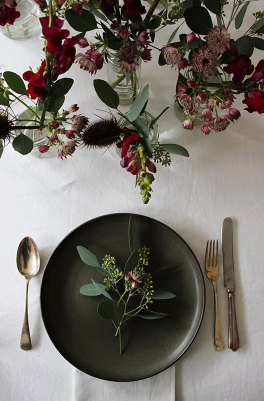 A quiet style table decor