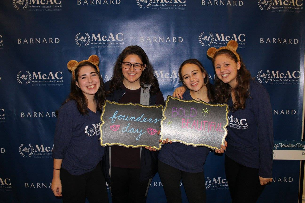 My friends at I at Barnard's Founders Day celebration!