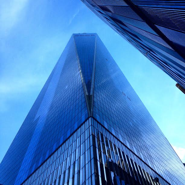 My friends and I went to see 1 World Trade Center and I snapped this view from below!